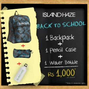 BACK to School off with Island Haze