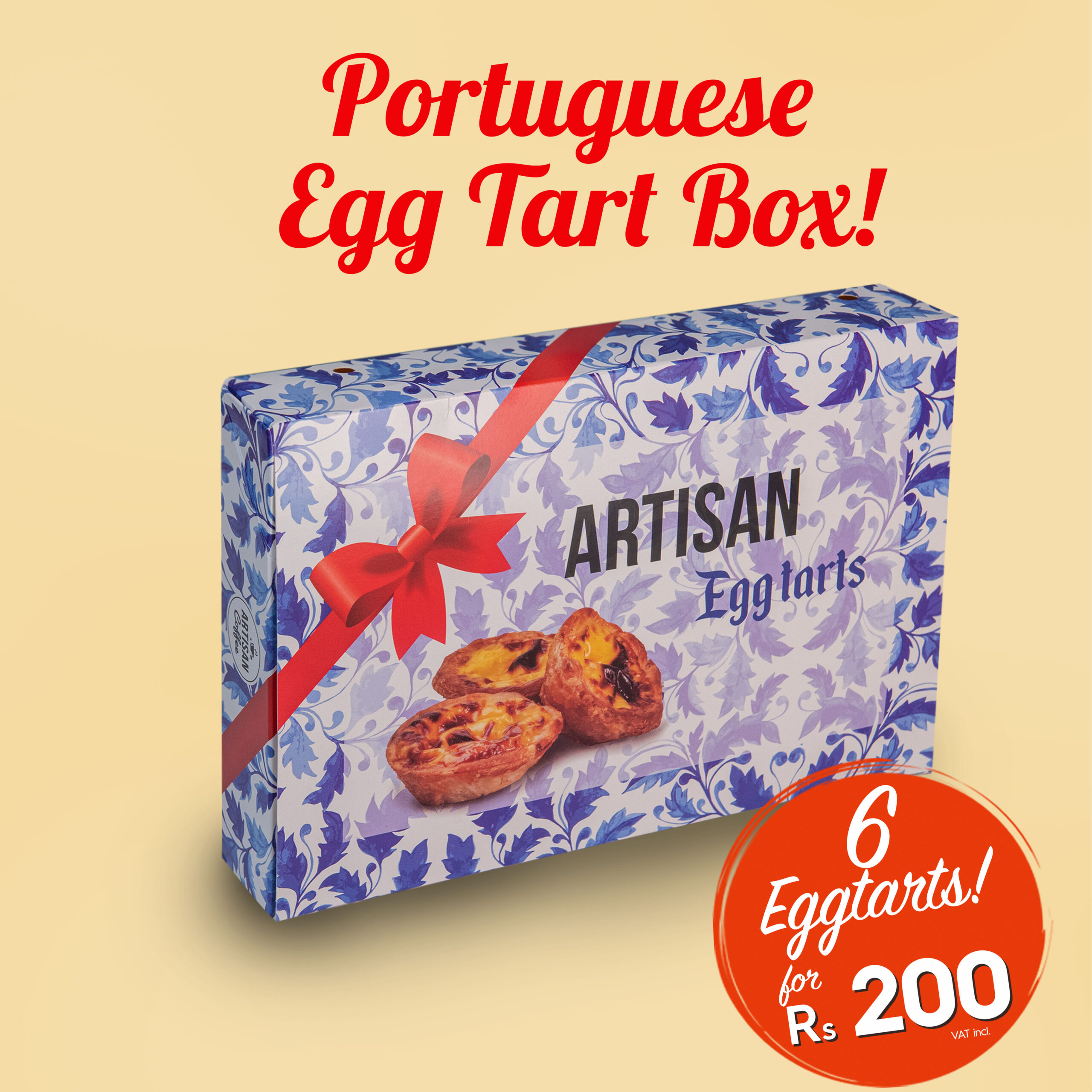 Egg tarts for Rs 200 at Artisan Coffee