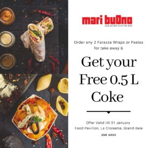 Get a 0.5L Coke for FREE at Mari Buono