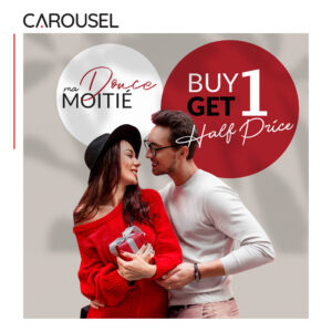 BUY 1 GET 1 HALF Price at Carousel