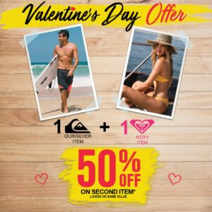 Special Valentine offer with Quiksilver