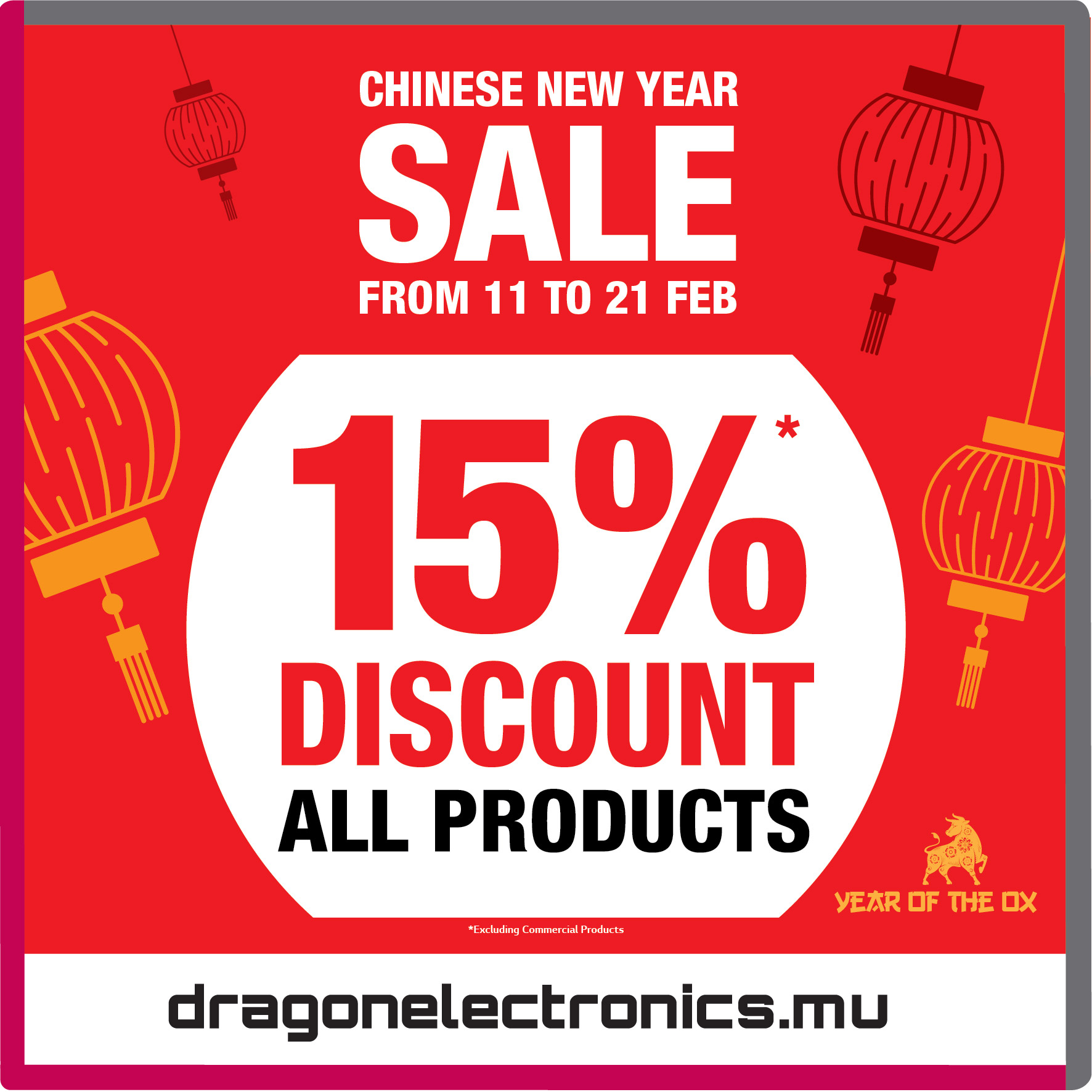 Dragon Electronics Annual Chinese New Year Sale