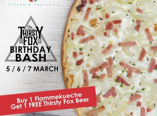 Thirsty Fox promo at Pomodoro
